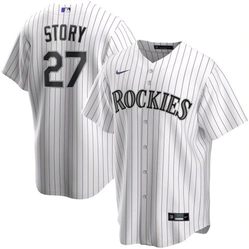 Men's Trevor Story White Home 2020 Player Team Jersey