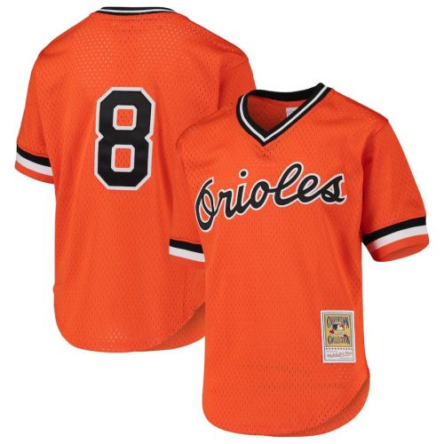 Men's Cal Ripken Jr. Orange Cooperstown Collection Mesh Batting Practice Throwback Jersey