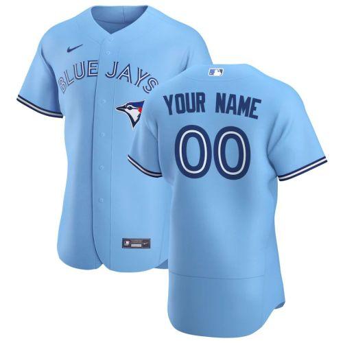 Men's Light Blue 2020 Alternate Authentic Custom Team Jersey