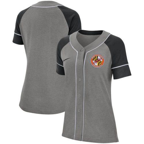 Women's Gray Classic Baseball Team Jersey