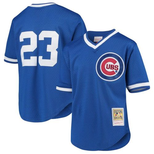 Youth Ryne Sandberg Royal Cooperstown Collection Mesh Batting Practice Throwback Jersey