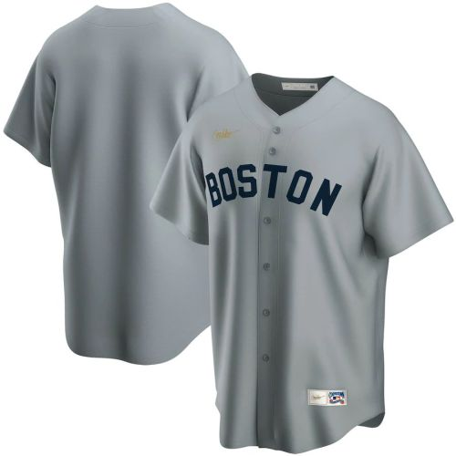 Men's Gray Road Cooperstown Collection Team Jersey