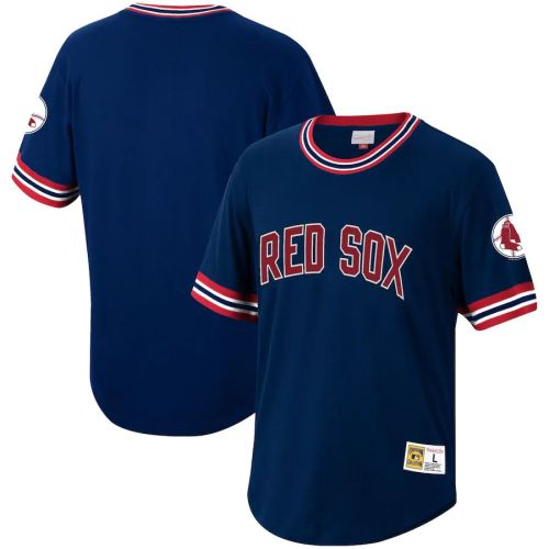 Men's Navy Cooperstown Collection Wild Pitch Throwback Jersey