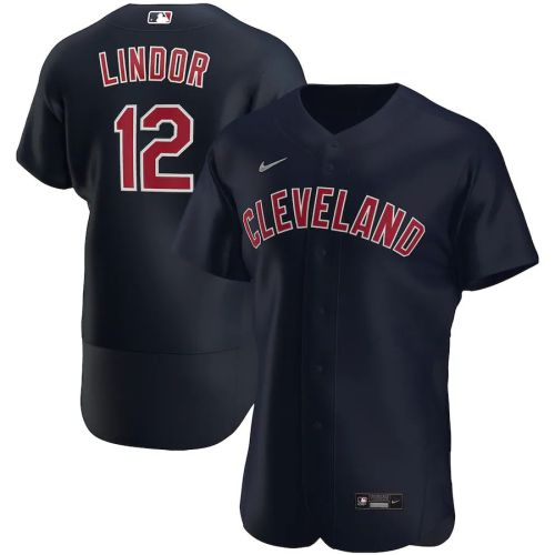 Men's Francisco Lindor Navy Alternate 2020 Authentic Player Team Jersey