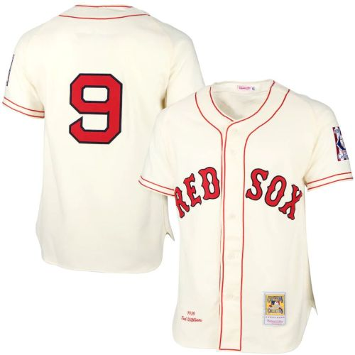 Men's Ted Williams Cream Throwback Jersey White