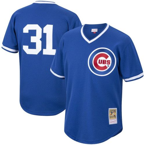 Men's Greg Maddux Royal Cooperstown Collection Mesh Batting Practice Throwback Jersey