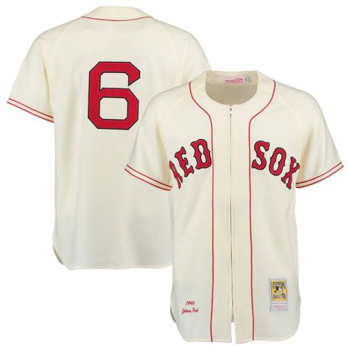 Men's 1946 Johnny Pesky Cream Throwback Jersey