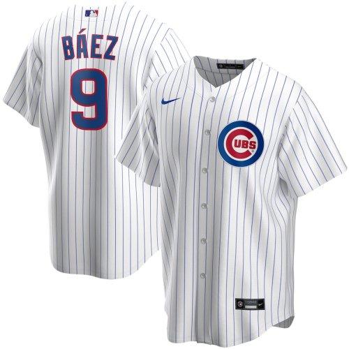 Men's Javier Baez White Home 2020 Player Team Jersey