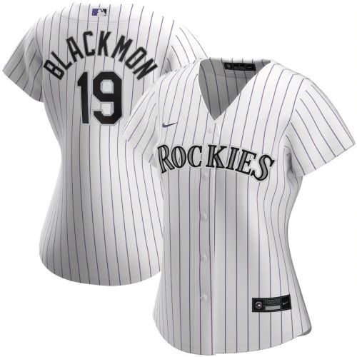 Women's Charlie Blackmon White Home 2020 Player Team Jersey