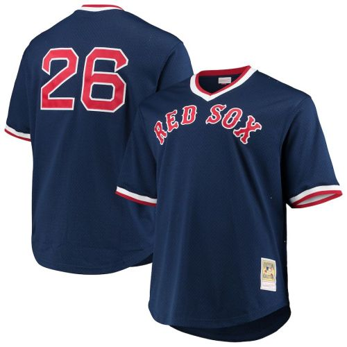 Men's Wade Boggs Navy Cooperstown Collection Mesh Batting Practice Throwback Jersey