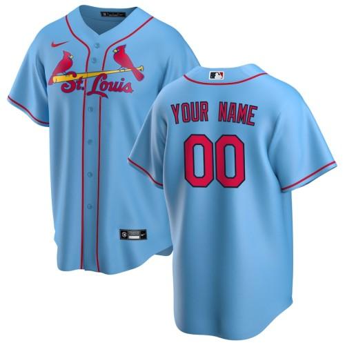 Men's Light Blue Alternate 2020 Custom Team Jersey