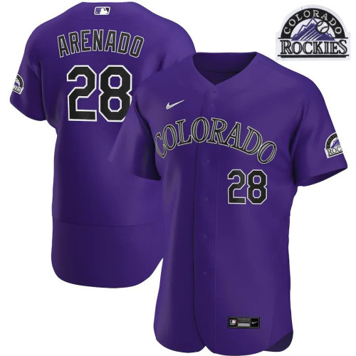 Men's Nolan Arenado Purple Alternate 2020 Authentic Player Team Jersey