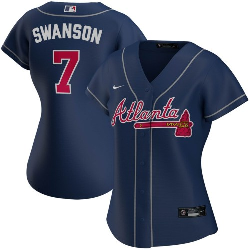 Women's Dansby Swanson Navy Alternate 2020 Player Team Jersey