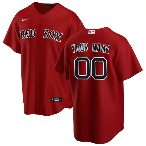 Men's Red Alternate 2020 Custom Team Jersey