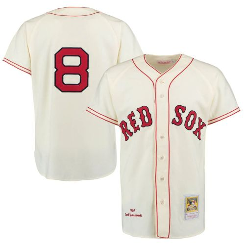 Men's Carl Yastrzemski Cream Throwback Jersey
