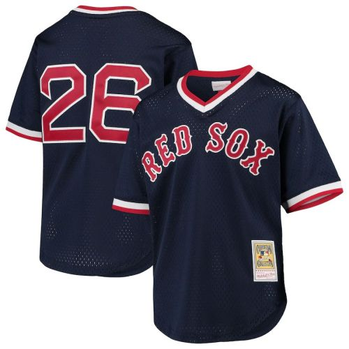 Youth Wade Boggs Navy Cooperstown Collection Mesh Batting Practice Throwback Jersey