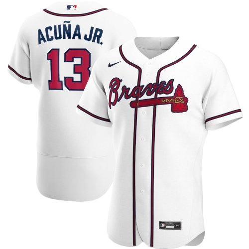 Men's Ronald Acuna Jr. White Home 2020 Authentic Player Team Jersey