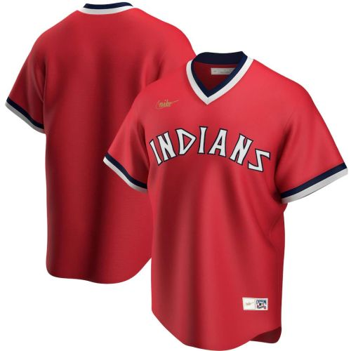 Men's Red Road Cooperstown Collection Team Jersey
