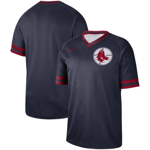 Men's Navy Cooperstown Collection Legend V-Neck Team Jersey