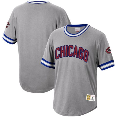 Men's Gray Cooperstown Collection Wild Pitch Throwback Jersey