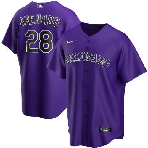 Men's Nolan Arenado Purple Alternate 2020 Player Team Jersey