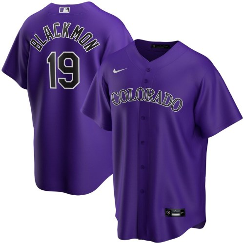 Youth Charlie Blackmon Purple Alternate 2020 Player Team Jersey