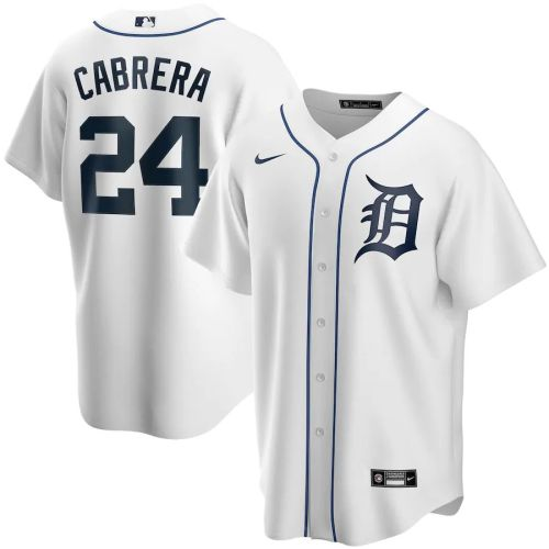 Men's Miguel Cabrera White Home 2020 Player Team Jersey