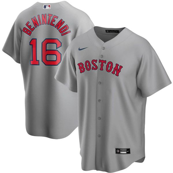 Men's Andrew Benintendi Gray Road 2020 Player Team Jersey