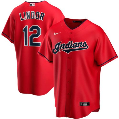 Men's Francisco Lindor Red Alternate 2020 Player Team Jersey