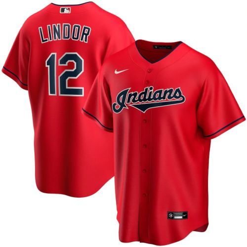 Youth Francisco Lindor Red Alternate 2020 Player Team Jersey