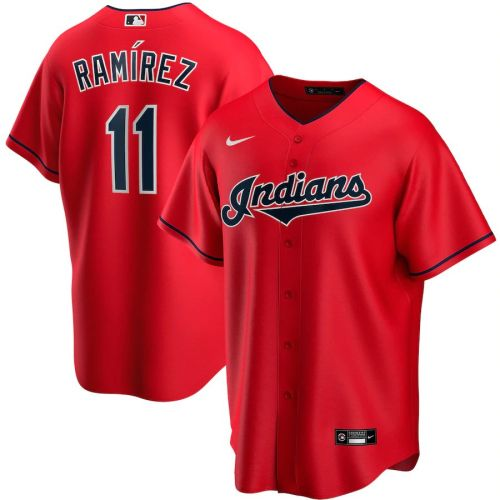 Men's Jose Ramirez Red Alternate 2020 Player Team Jersey