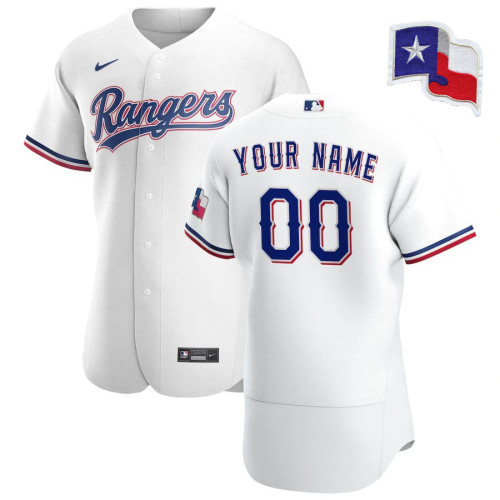 Men's White 2020 Home Authentic Custom Team Jersey