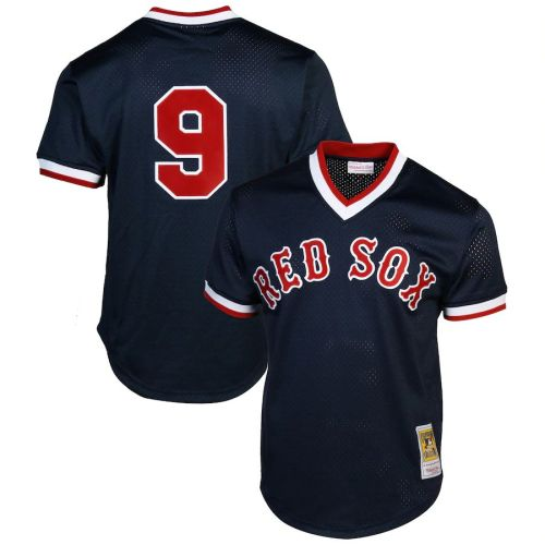 Youth Ted Williams 1990 Cooperstown Collection Batting Practice Throwback Jersey - Navy Blue