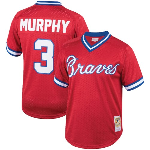 Men's Dale Murphy Red Cooperstown Collection Mesh Batting Practice Throwback Jersey