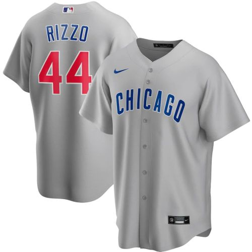 Men's Anthony Rizzo Gray Road 2020 Player Team Jersey