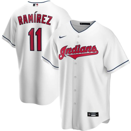 Men's Jose Ramirez White Home 2020 Player Team Jersey