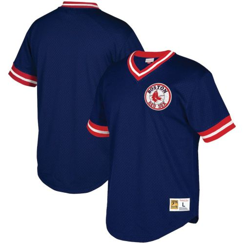 Men's Navy Mesh V-Neck Throwback Jersey