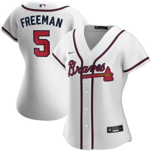 Women's Freddie Freeman White Home 2020 Player Team Jersey