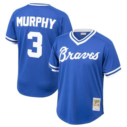 Men's Dale Murphy Royal Cooperstown Collection Mesh Batting Practice Throwback Jersey