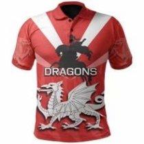 St George Illawarra Dragons 2021 Mens Football Polo Shirt