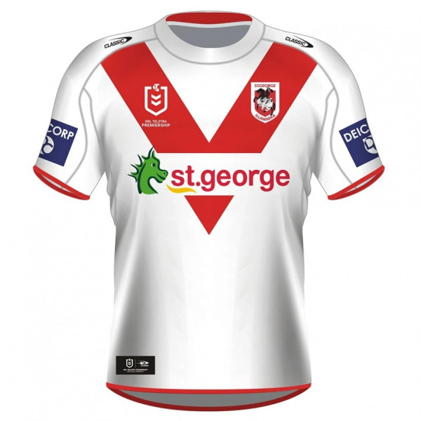 St George Illawarra Dragons 2021 Men's Home Rugby Jersey
