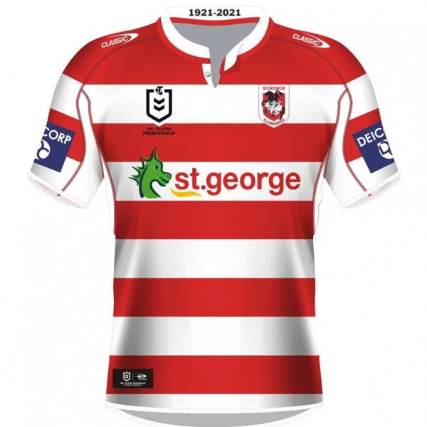 St George Illawarra Dragons 2021 Men's Heritage Rugby Jersey