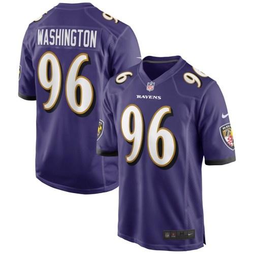 Men's Broderick Washington Purple Player Limited Team Jersey