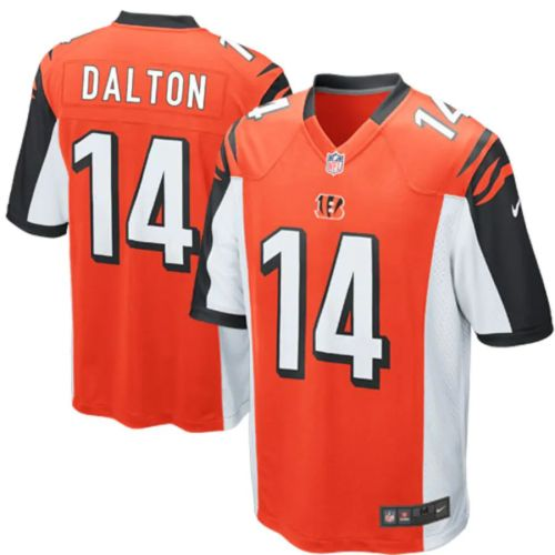 Men's Andy Dalton Orange Alternate Player Limited Team Jersey