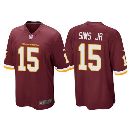 Men's #15 Steven Sims Jr. Burgundy Player Limited Team Jersey