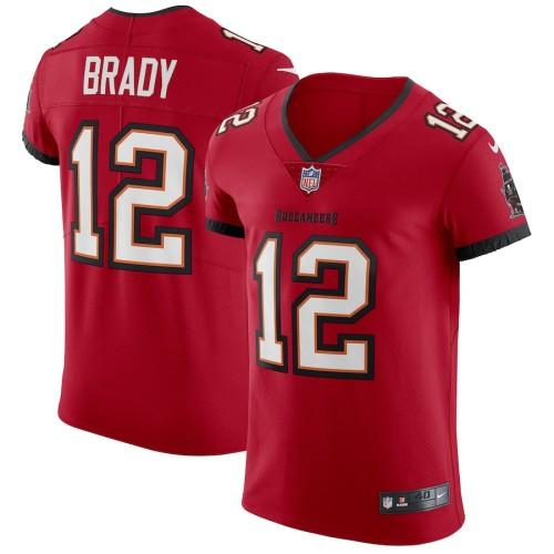 Men's Tom Brady Red Vapor Player Elite Team Jersey