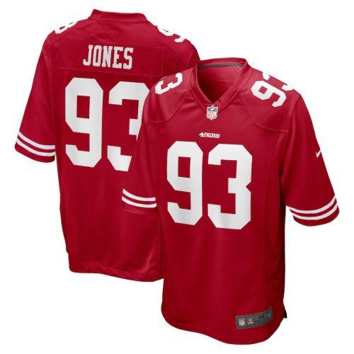 Men's D.J. Jones Scarlet Player Limited Team Jersey