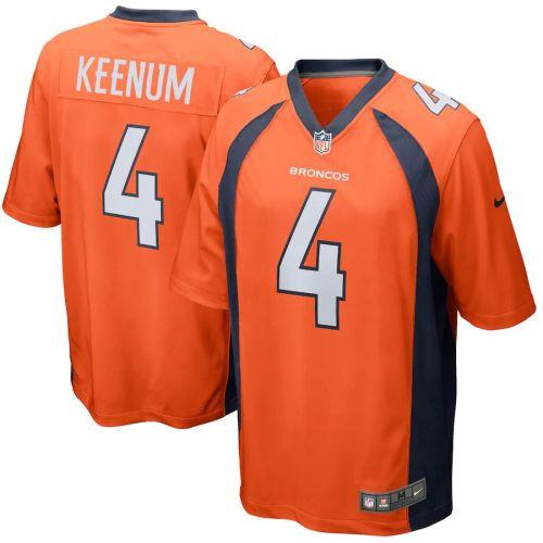 Men's Case Keenum Orange Player Limited Team Jersey