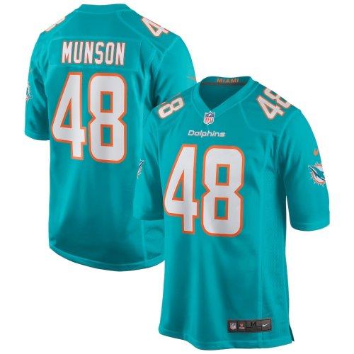 Men's Calvin Munson Aqua Player Limited Team Jersey