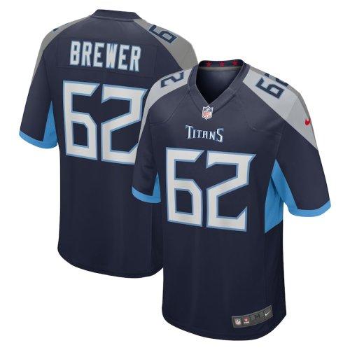 Men's Aaron Brewer Navy Player Limited Team Jersey